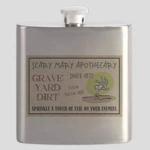 GRAVE YARD DIRT Flask