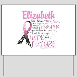 Breast Cancer Survivor Personalize Yard Sign