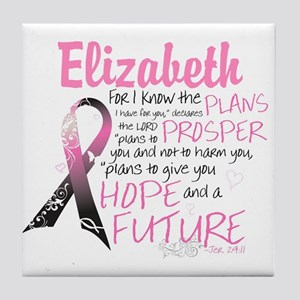 Breast Cancer Survivor Personalize Tile Coaster