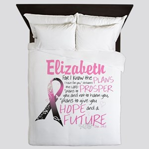 Breast Cancer Survivor Personalize Queen Duvet