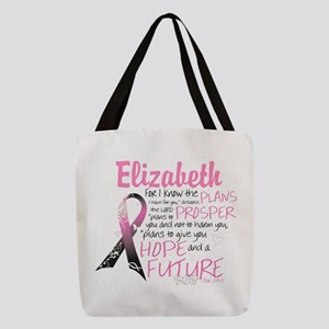 Breast Cancer Survivor Personalize Polyester Tote