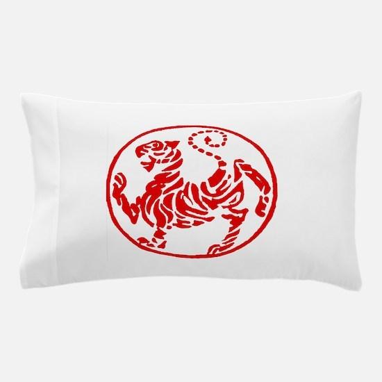 Shotokan Red Tiger Pillow Case