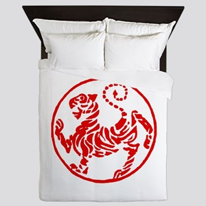 Shotokan Red Tiger Queen Duvet