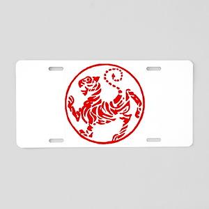 Shotokan Red Tiger Aluminum License Plate