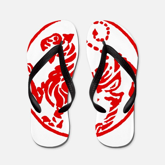 Shotokan Red Tiger Flip Flops