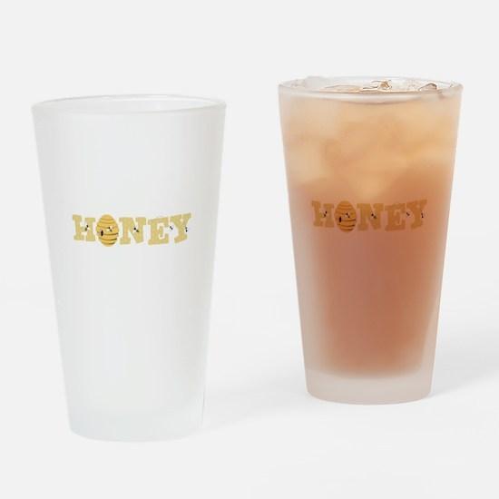Honey Bees Drinking Glass
