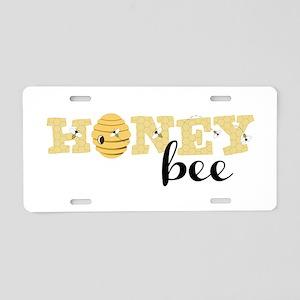 Honey Bee Aluminum License Plate
