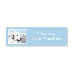 Great Pyrenees Car Magnet 10 x 3