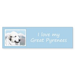 Great Pyrenees Sticker (Bumper 10 pk)