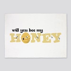 Will You Bee My Honey 5'x7'Area Rug