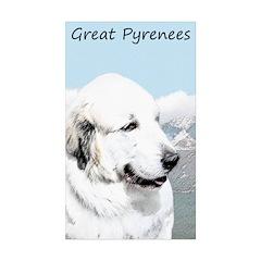 Great Pyrenees Sticker (Rectangle 50 pk)