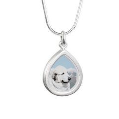 Great Pyrenees Silver Teardrop Necklace