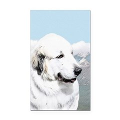 Great Pyrenees Rectangle Car Magnet