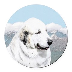 Great Pyrenees Round Car Magnet