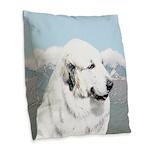 Great Pyrenees Burlap Throw Pillow