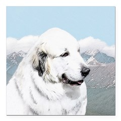 Great Pyrenees Square Car Magnet 3