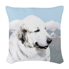 Great Pyrenees Woven Throw Pillow