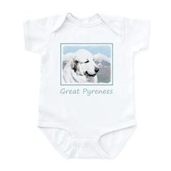 Great Pyrenees Baby Light Bodysuit