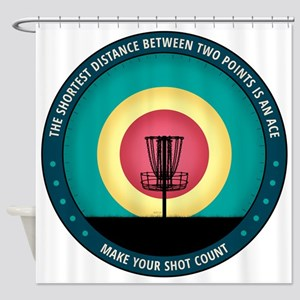 Make Your Shot Count Shower Curtain