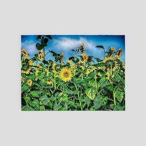 Sunflower Field 5'x7'Area Rug