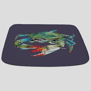 Blue Crab Navy Bathmat