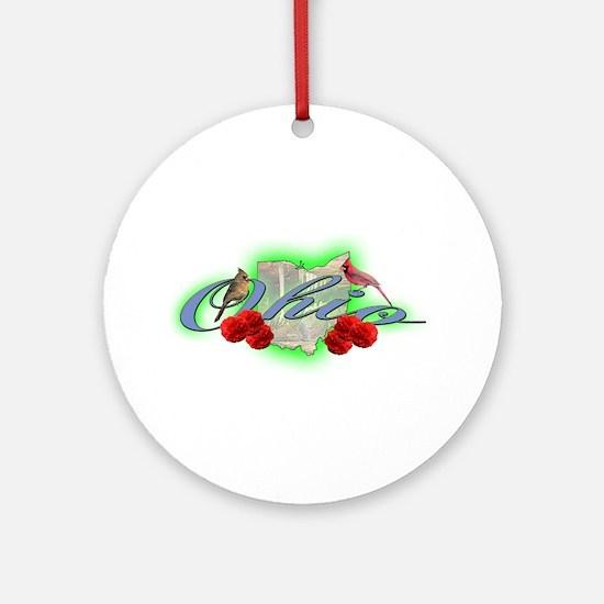 Ohio Ornament (Round)