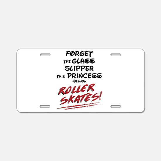 Roller Princess Aluminum License Plate