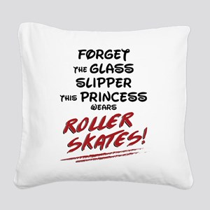 Roller Princess Square Canvas Pillow