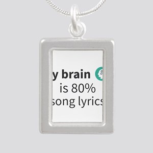 My brain is 80% song lyrics Necklaces