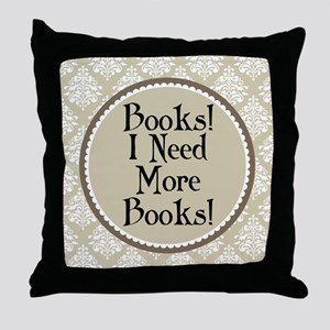 Book Quote Funny Reading Throw Pillow