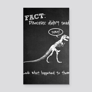 Dinos Didn't Read Rectangle Car Magnet