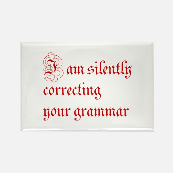 silently correcting grammar-par red Magnets