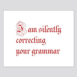 silently correcting grammar-par red Posters
