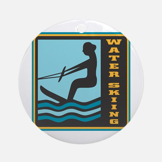 Waterskiing Logo Ornament (Round)