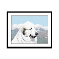 Great Pyrenees Framed Panel Print