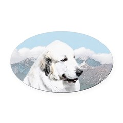 Great Pyrenees Oval Car Magnet
