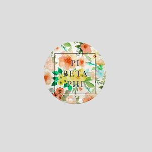 Pi Beta Phi Floral Mini Button