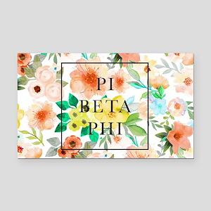 Pi Beta Phi Floral Rectangle Car Magnet