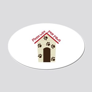 Wipe Your Paws Wall Decal