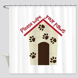 Wipe Your Paws Shower Curtain