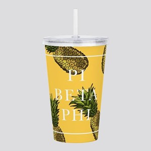 Pi Beta Phi Pineapples Acrylic Double-wall Tumbler