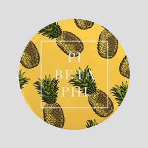 "Pi Beta Phi Pineapples 3.5"" Button"