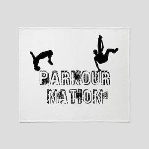 Parkour Nation Throw Blanket