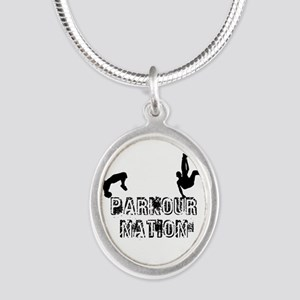 Parkour Nation Silver Oval Necklace Necklaces