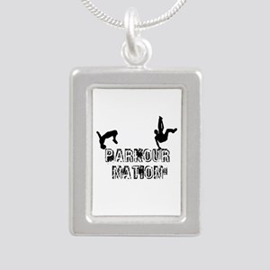 Parkour Nation Silver Portrait Necklace Necklaces
