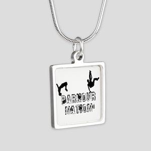 Parkour Nation Silver Square Necklace Necklaces