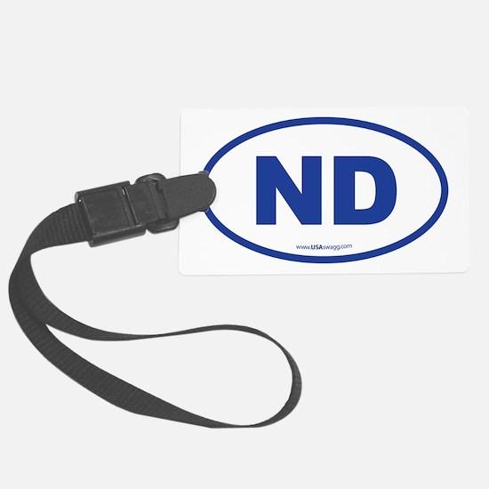 North Dakota ND Euro Oval Luggage Tag