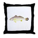 Blackspot Croaker Throw Pillow