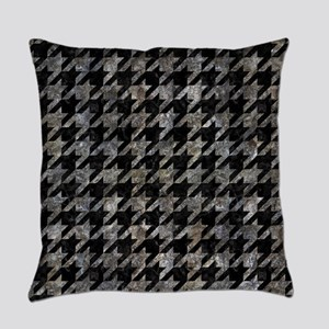 HOUNDSTOOTH1 BLACK MARBLE & GRAY S Everyday Pillow