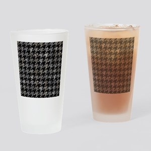 HOUNDSTOOTH1 BLACK MARBLE & GRAY ST Drinking Glass
